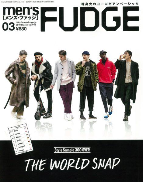 men's FUDGE 3月号掲載
